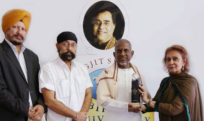 Ilaiyaraaja gets Jagjit Singh-Award at the hands of his wife Chitra Singh